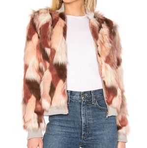 NWT Faux Fur Bomber